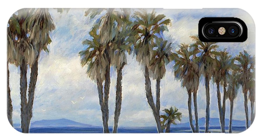 Beach Art IPhone X / XS Case featuring the painting C Street Ventura by Tina Obrien