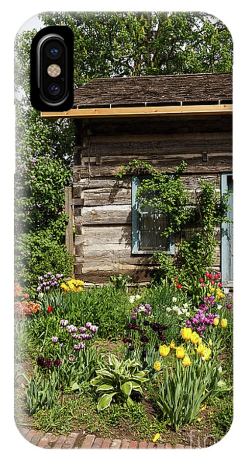 Tulip IPhone X / XS Case featuring the photograph Cabin In The Spring by Terri Morris