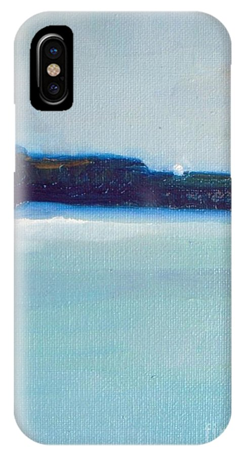 Ocean IPhone X Case featuring the painting Blue Coast by Vesna Antic