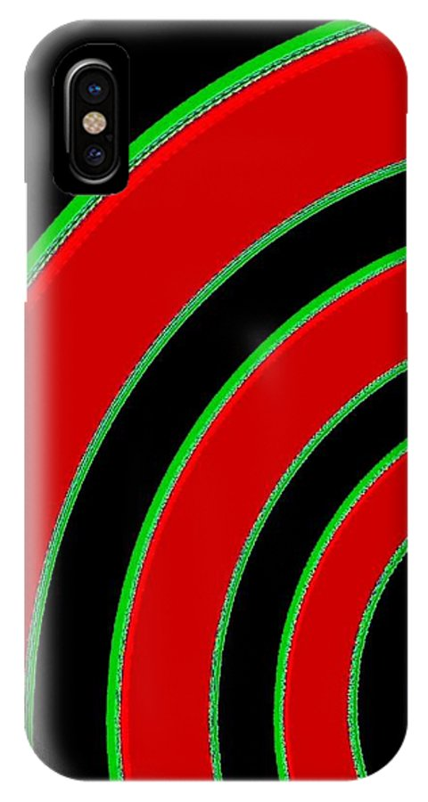 Abstract IPhone X Case featuring the digital art Candid Color 1 by Will Borden
