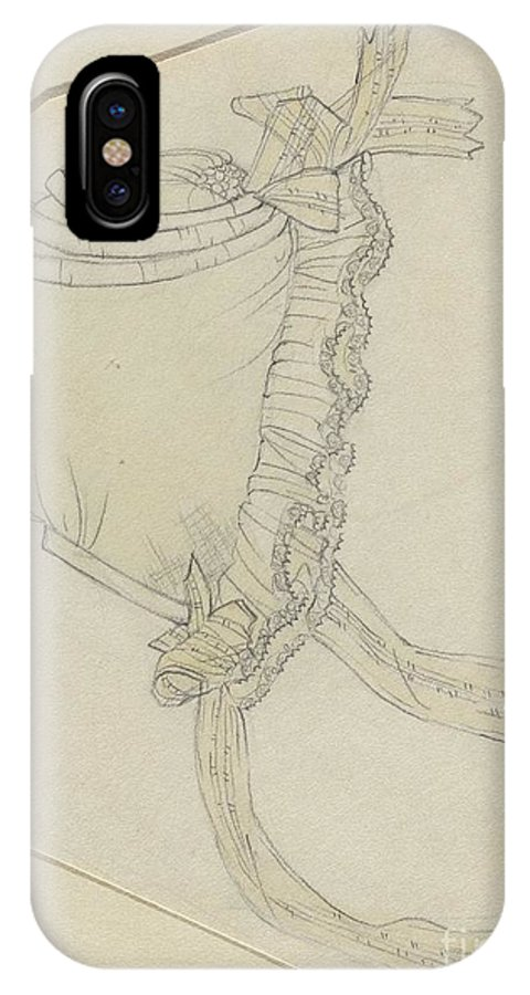 IPhone X Case featuring the drawing Cap by Rosalia Lane