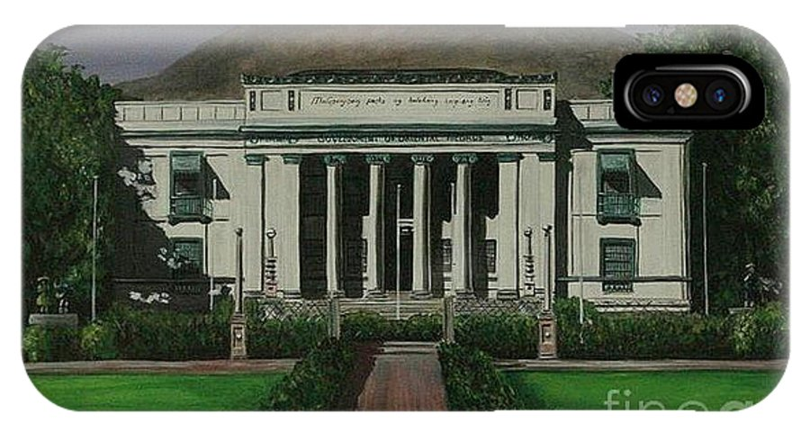 Dumaguete IPhone X Case featuring the painting Capitol Building Negros Oriental by Richard John Holden RA