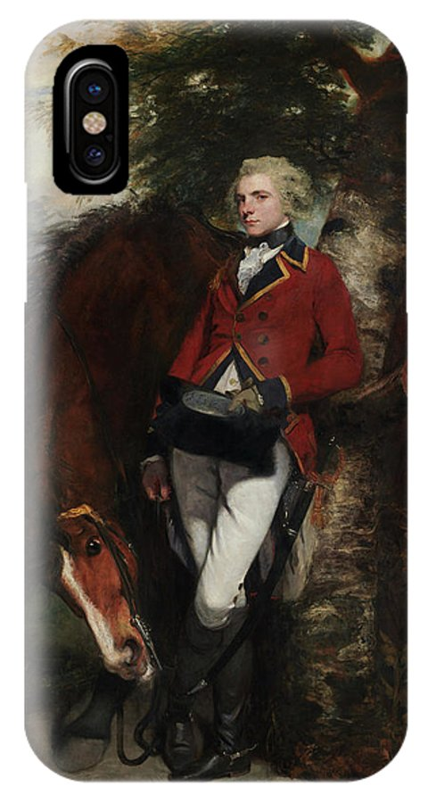 Animal IPhone X Case featuring the painting Captain George K. H. Coussmaker by Joshua Reynolds