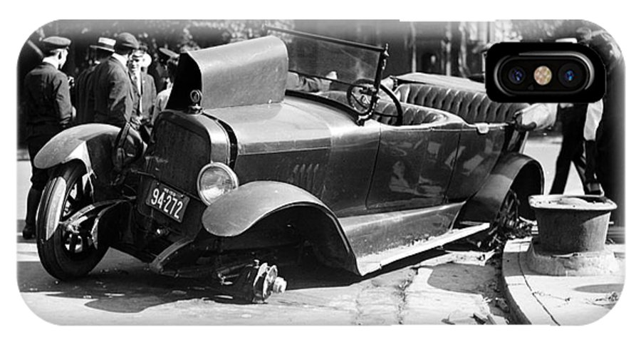 1919 IPhone X Case featuring the photograph Car Accident, C1919 by Granger