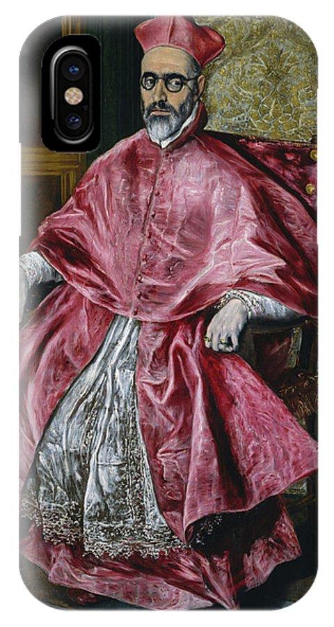 Beard IPhone X Case featuring the painting Cardinal Fernando Nino De Guevara by El Greco
