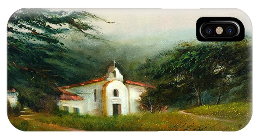 Carmel IPhone X Case featuring the painting Carmel Monastery by Sally Seago