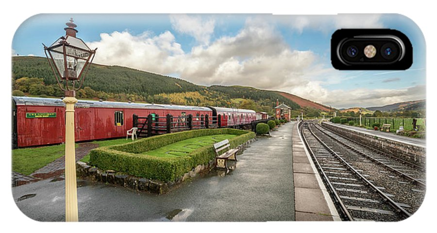 Rail IPhone X Case featuring the photograph Carrog Railway Station by Adrian Evans