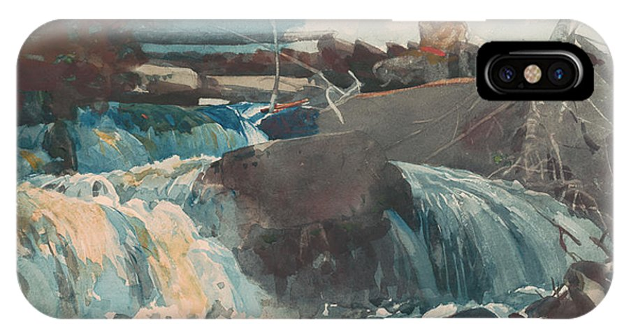 Casting In The Falls IPhone X / XS Case featuring the painting Casting In The Falls by Winslow Homer