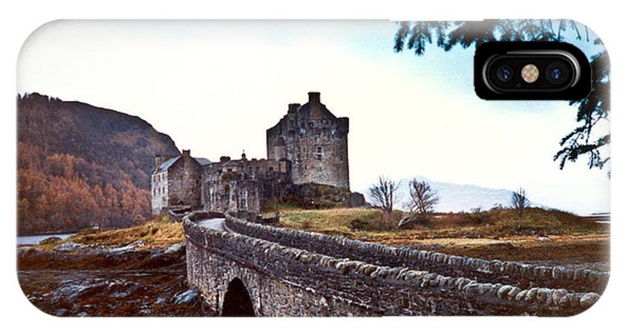 Castle IPhone X Case featuring the photograph Castle Eilean Scotland by Douglas Barnett