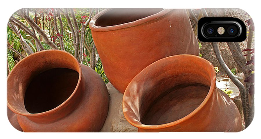 Pot IPhone X / XS Case featuring the photograph Ceramic Pots by Robert Hamm