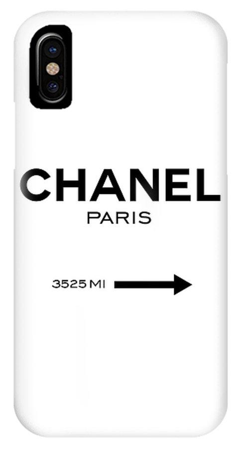 hot sale online d358e a1230 Chanel Paris IPhone X Case