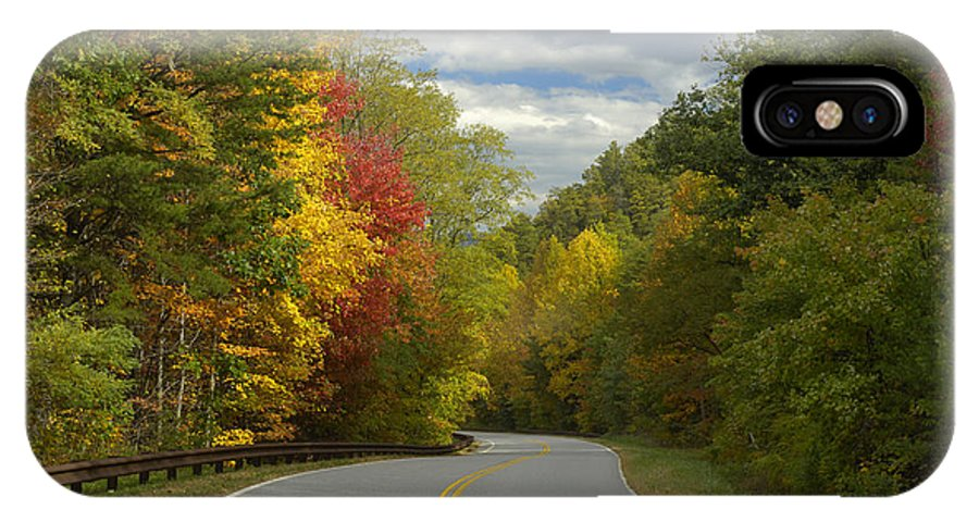 Road IPhone X Case featuring the photograph Cherohala Skyway In Autumn Color by Darrell Young