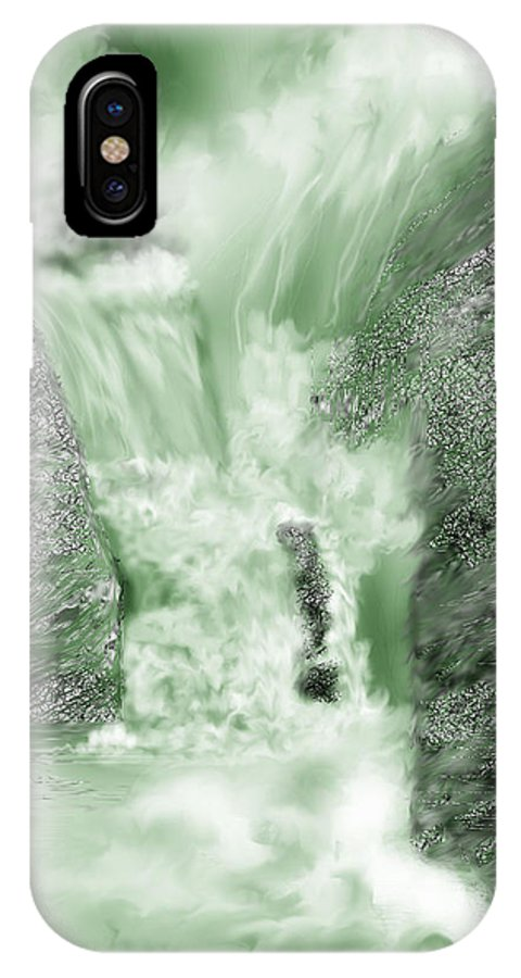 White Water IPhone Case featuring the painting Cherry Creek Lower Run by Anne Norskog