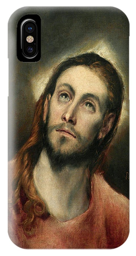 Christ IPhone X Case featuring the painting Christ In Prayer by El Greco