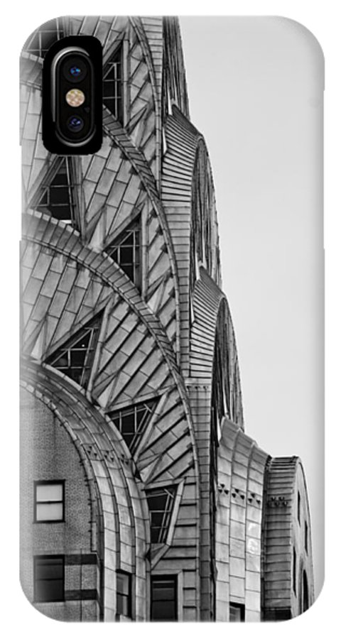 New York City IPhone X Case featuring the photograph Chrysler Building by Michael Dorn