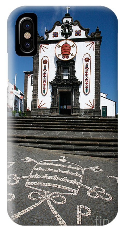 Architecture IPhone X Case featuring the photograph Church In The Azores by Gaspar Avila