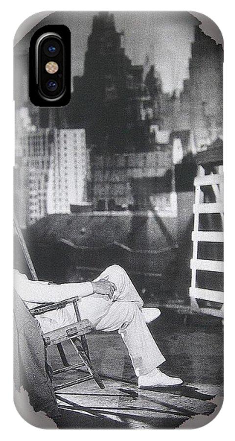 Clark Gable Mgm Sound Stage Circa 1932-2008 IPhone X Case featuring the photograph Clark Gable Mgm Sound Stage Circa 1932-2008 by David Lee Guss