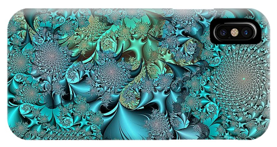 Fractal IPhone X Case featuring the digital art Claws by Ron Bissett