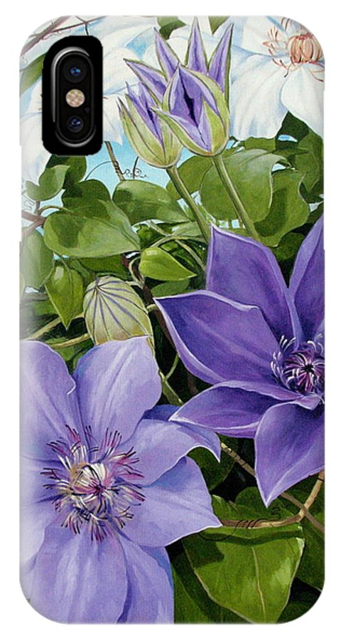 Clematis IPhone Case featuring the painting Clematis 2 by Jerrold Carton