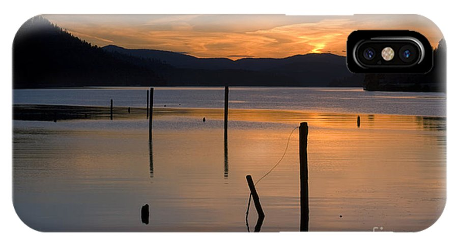 Coeur D Alene IPhone X Case featuring the photograph Cloud Dance 1 by Idaho Scenic Images Linda Lantzy