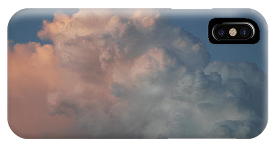 Clouds IPhone X Case featuring the photograph Cloudy Day by Rob Hans
