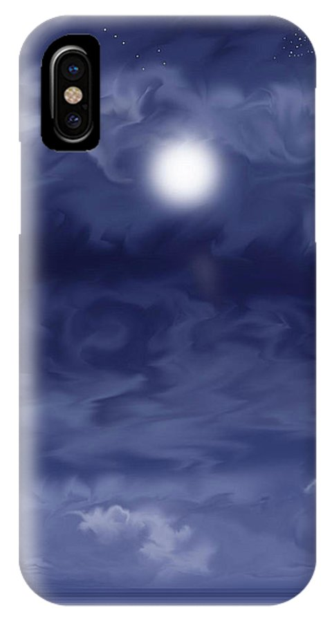 Moon IPhone Case featuring the painting Cobalt by Anne Norskog
