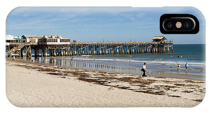 Florida; Cocoa; Beach; Atlantic; Ocean; East; Space; Coast; Brevard; Central; Pier; Surf; Surfing; F IPhone X Case featuring the photograph Cocoa Beach In Florida by Allan Hughes