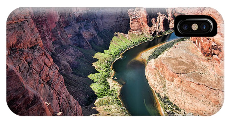 Horseshoe Bend IPhone X Case featuring the photograph Colorado River Flows Around Horseshoe Bend by Chuck Kuhn