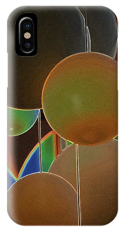 Colored Bubbles IPhone X Case featuring the photograph Colored Bubbles by Robert Meanor