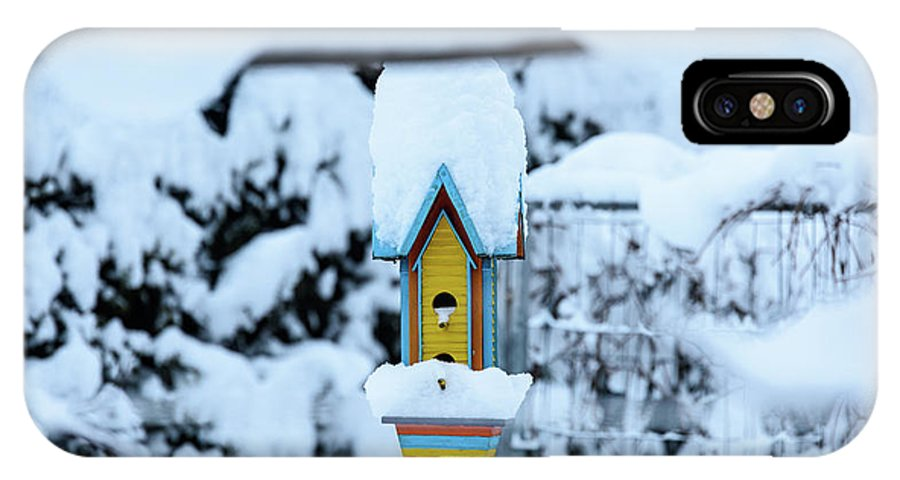 Winter IPhone X Case featuring the photograph Colors In The Snow by Nicola Simeoni