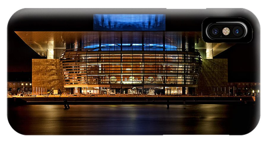 Architecture IPhone X Case featuring the photograph Copenhagen Opera House by Joerg Lingnau