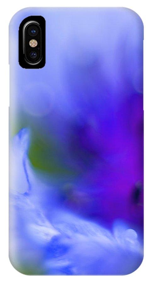 Cornflower IPhone X Case featuring the photograph Cornflower by Silke Magino