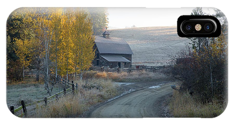 Idaho IPhone X Case featuring the photograph Country Morning by Idaho Scenic Images Linda Lantzy