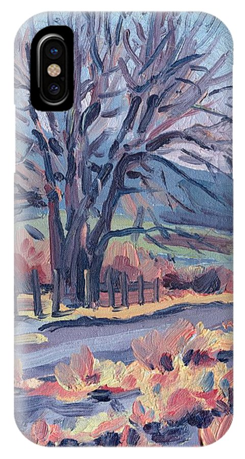 Road IPhone X Case featuring the painting Country Road by Donald Maier