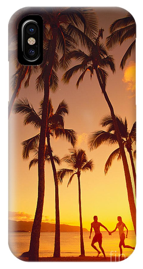 Affection IPhone X Case featuring the photograph Couples Vacation by Dana Edmunds - Printscapes