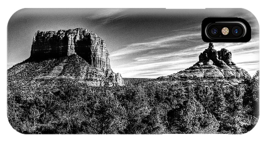 Arizona IPhone X Case featuring the photograph Courthouse Butte And Bell Rock Sedona Arizona by Roger Passman