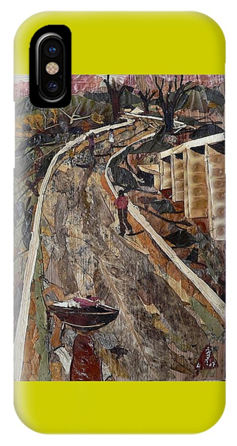 Village Road IPhone X Case featuring the mixed media Cross-country Road by Basant Soni