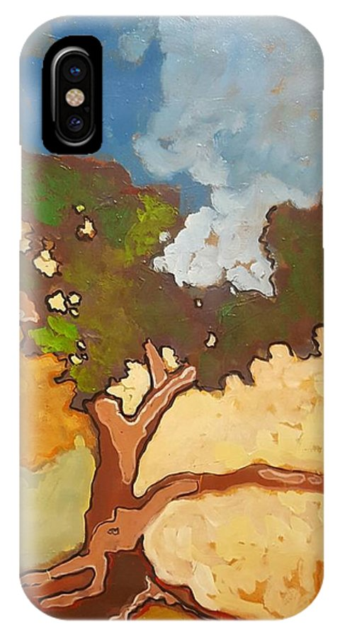 Tree IPhone X Case featuring the painting Cypress by Kurt Hausmann