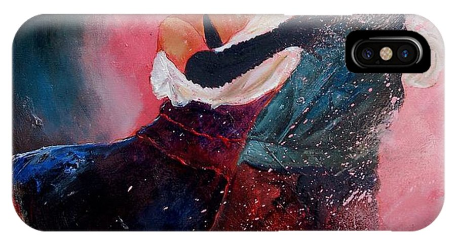 Music IPhone X / XS Case featuring the painting Dancing Tango by Pol Ledent