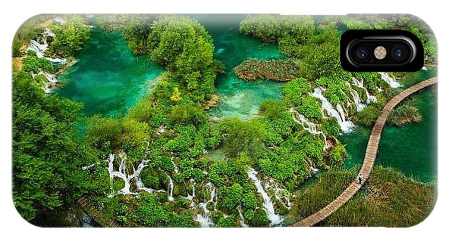 Dave Ruberto - Wonderful Green IPhone X / XS Case featuring the photograph Dave Ruberto - Wonderful Green Nature Waterfall Landscape by Dave Ruberto