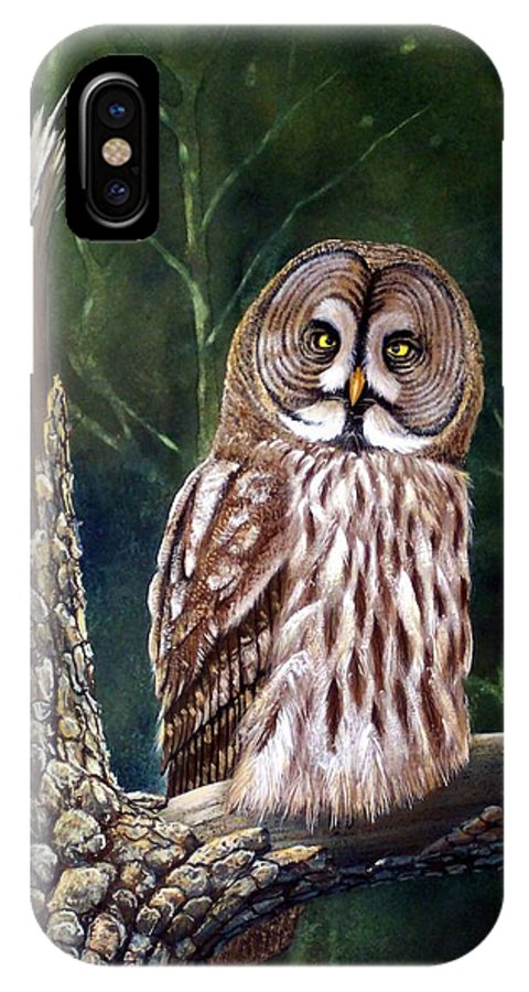 Wildlife IPhone X / XS Case featuring the painting Deep In The Woods by Frank Wilson