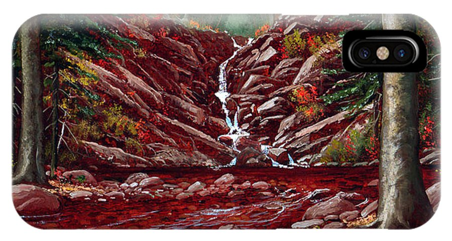 Frank Wilson IPhone Case featuring the painting Deepwoods Cascade by Frank Wilson