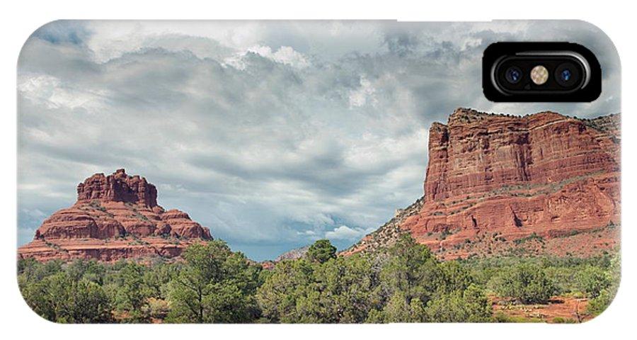 Sedona IPhone X Case featuring the photograph Desert View, Sedona, Arizona by American School