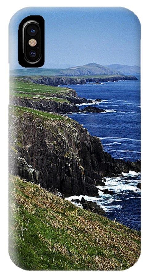 Irish IPhone X Case featuring the photograph Dingle Coastline Near Fahan Ireland by Teresa Mucha