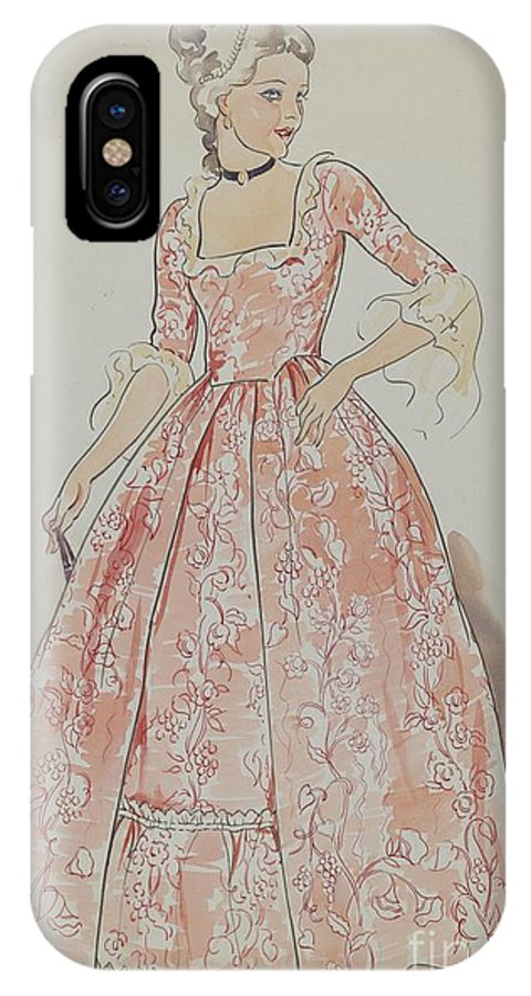 IPhone X Case featuring the drawing Dress by Lillian Causey