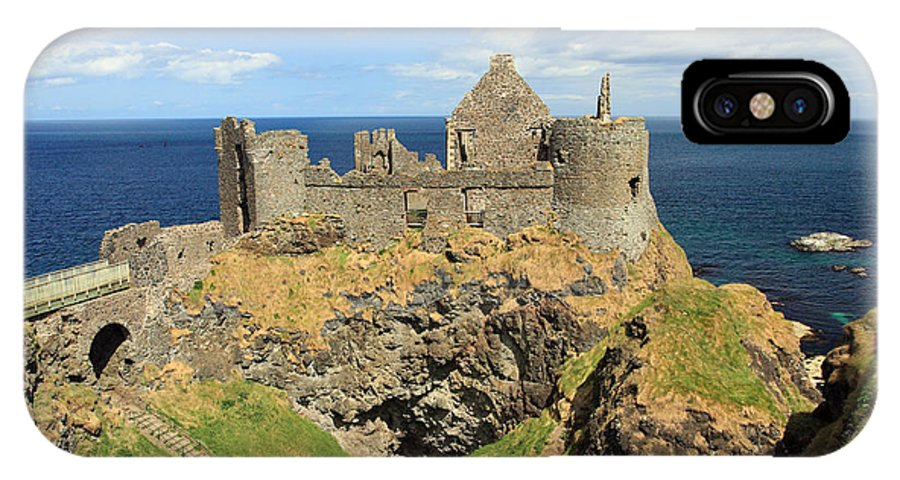 Dunluce IPhone X Case featuring the photograph Dunluce Castle Northern Ireland by Pierre Leclerc Photography