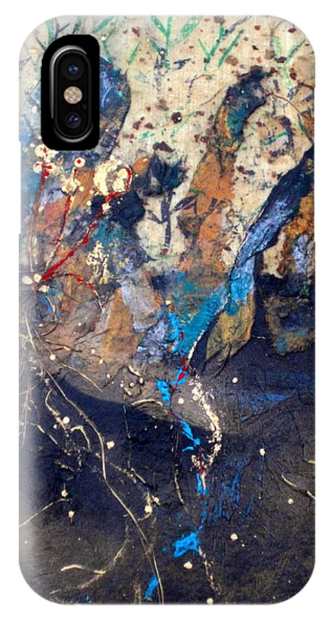 Earth IPhone X Case featuring the mixed media Emergance by Cheryl Ehlers