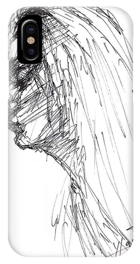 Erbora IPhone X Case featuring the drawing Erbora by Ylli Haruni