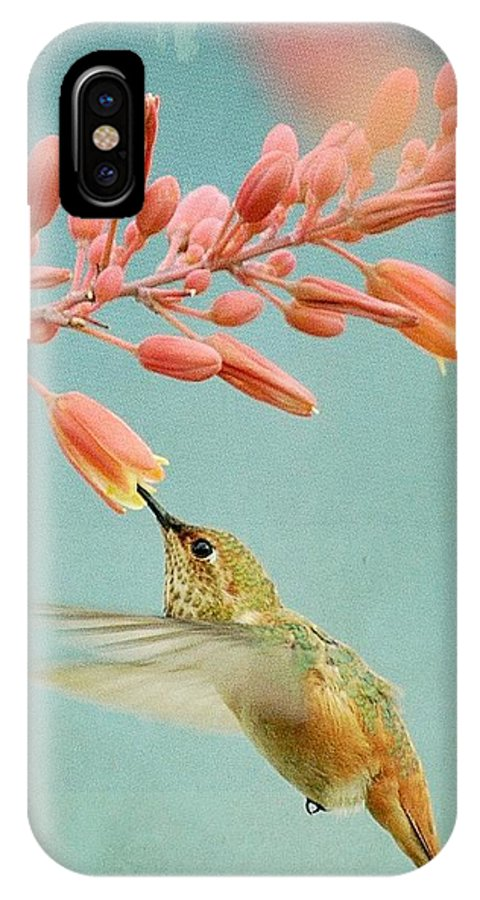 Hummingbird IPhone X Case featuring the photograph Ethereal by Fraida Gutovich