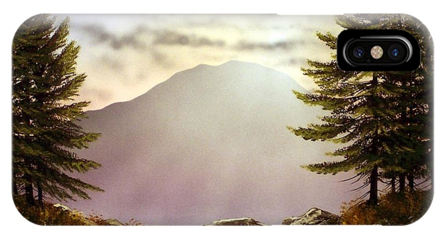Mountains IPhone X Case featuring the painting Evening Trail by Frank Wilson